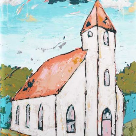 Acrylic-Painting-Church-Your-Goodness-Chases-Me