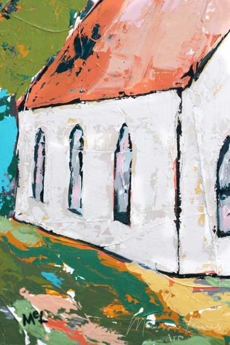 Your Goodness Chases Me Abstract Church Painting