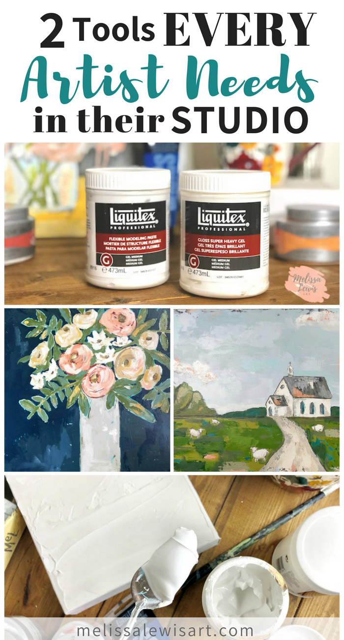 2 Tools Every Artist Needs In Their Studio to help you achieve that textured art and oil painting look by artist Melissa Lewis