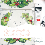 How to paint a Christmas wreath. Watch me paint this textured art for Christmas by Melissa Lewis