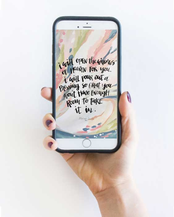 March 2019 Hand lettered Scripture and Art Screensaver and Print Download by Melissa Lewis.