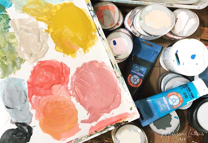 How To Make A Color Palette and What Paint I Use by artist Melissa Lewis