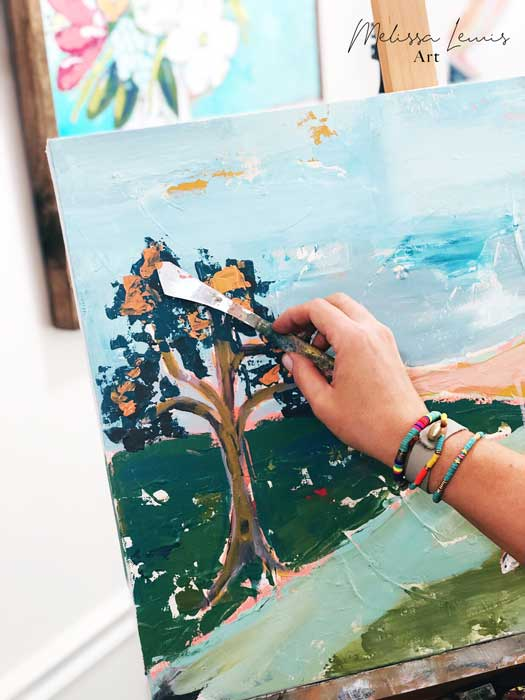 How to Create Your Color Palette and What Paint I Use by artist Melissa Lewis