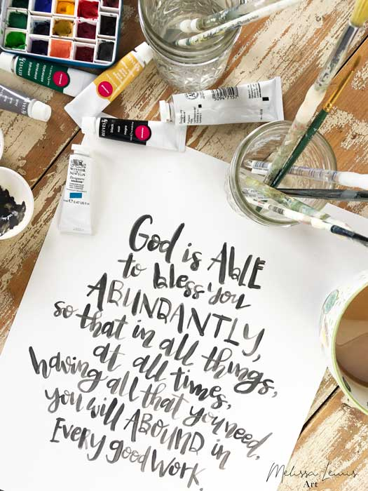 May 2019 Handlettered Scripture Free Print and Screensaver download by artist Melissa Lewis.