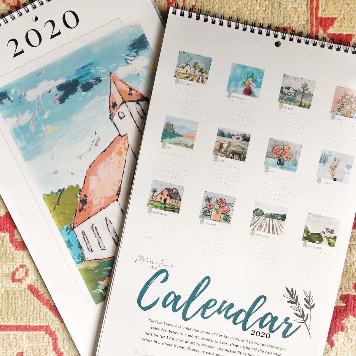 2020-Calendar-of-Art-Inspiration-Melissa-Lewis-Art-Medium